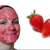 توت فرنگی بهترین ماسک بر ای صورت