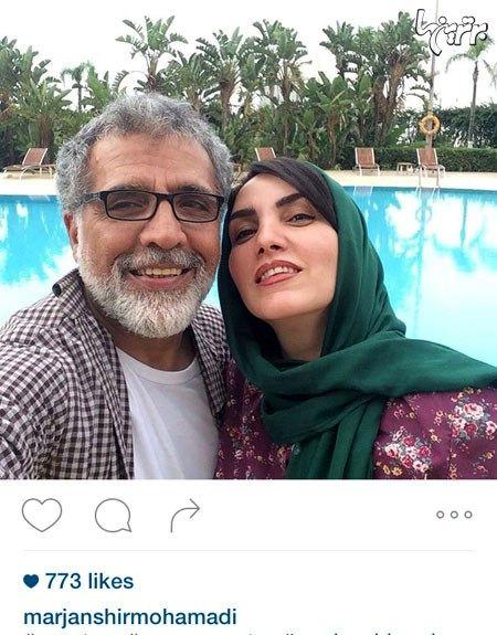 سلفی مرجان شیرمحمدی در استخر + عکس