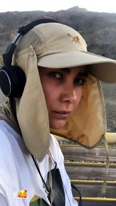 کوهنوردی آنا نعمتی با لباس 18+/ عکس
