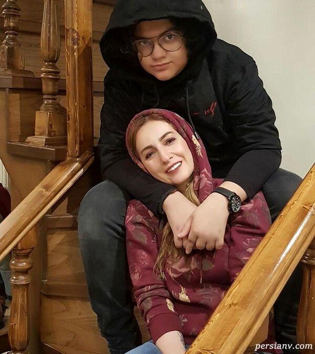 ژست متفاوت شقایق دهقان و یک پسر بعد از طلاق+عکس
