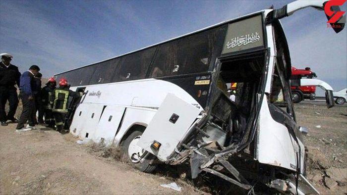 مقصر حادثه واژگونی اتوبوس خبرنگاران  مشخص شد