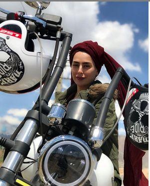 موتورسواری سمانه پاکدل + عکس